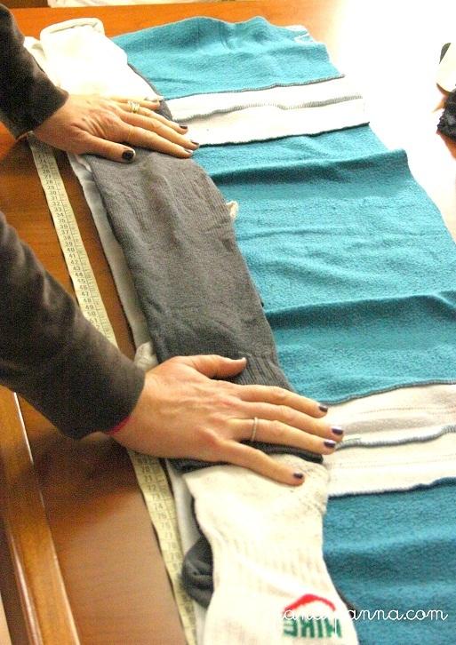 Portaspifferi fai da te riciclando vecchi indumenti creativapp home decor Inverno fai da te Riciclo Creativo stoffa e lana