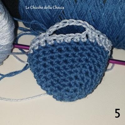 Borsette portachiavi all'uncinetto amigurumi creativapp regali fai da te stoffa e lana