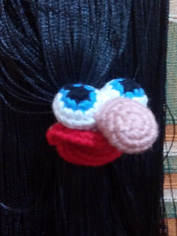 Accessorio Muppet Amigurumi per Capelli amigurumi creativapp stoffa e lana