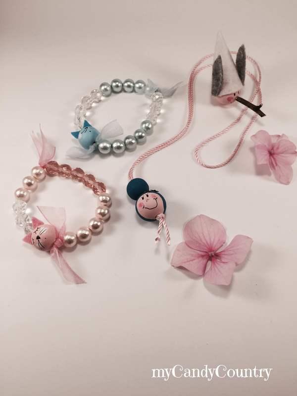 Favoloso Bijoux fai da te: Bracciali con perle di legno | | myCandyCountry  BS08