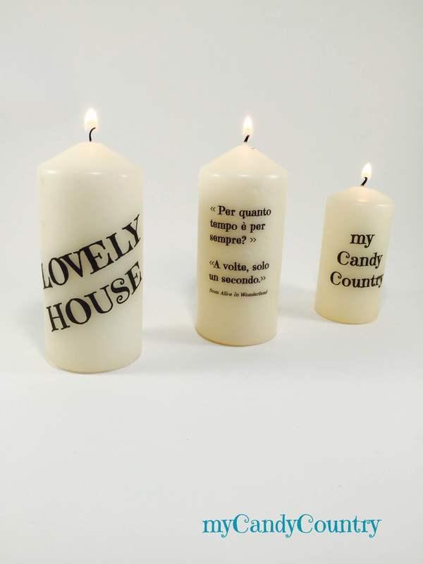 Candele personalizzate con PC e stampante candele creatività home decor