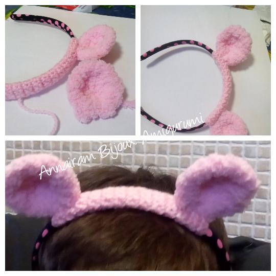 Carnevale fai-da-te: come fare simpatiche orecchie per capelli amigurumi Carnevale fai da te creativapp stoffa e lana