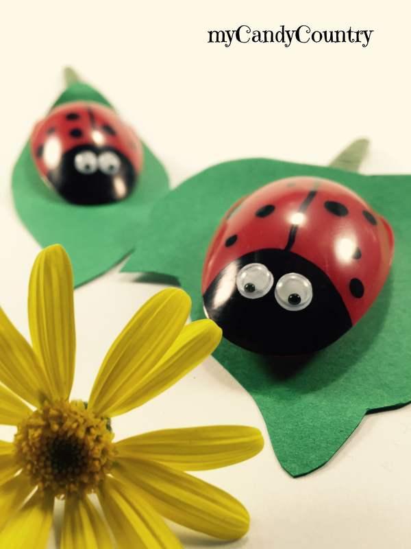 Coccinelle Fai Da Te Con Cucchiai Di Plastica Primavera Creativa