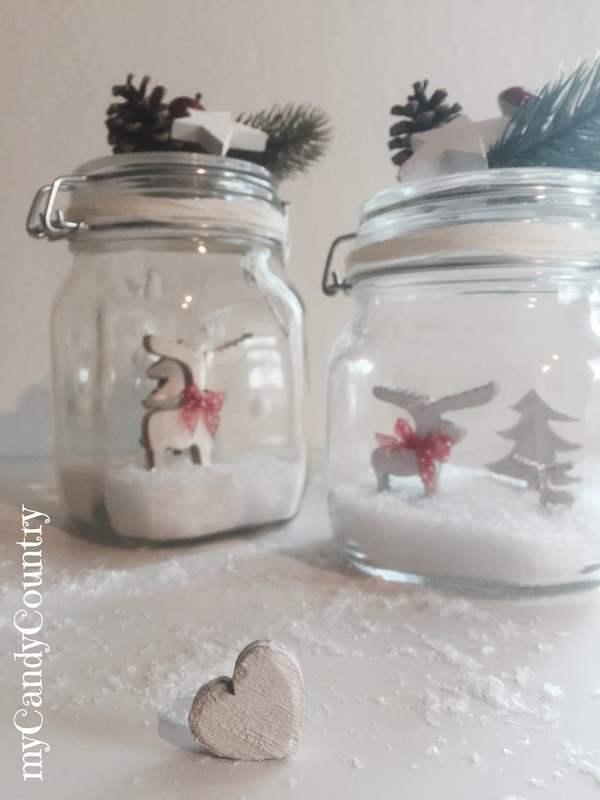 Come costruire snow globe fai da te in barattoli di vetro - Come decorare un barattolo ...