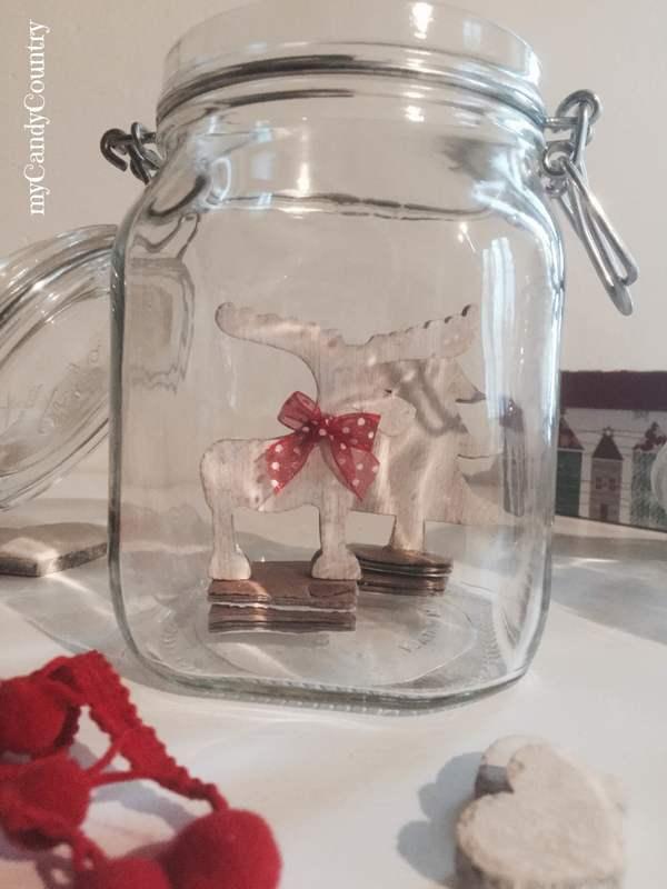 Come costruire Snow Globe fai-da-te in barattoli di vetro - Riciclo creativo home decor Natale fai da te regali fai da te Riciclo Creativo vetro
