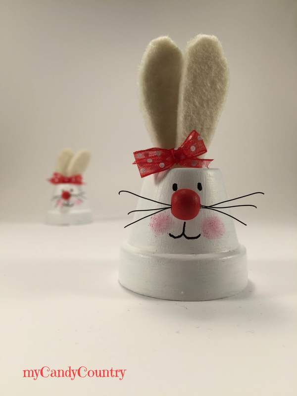 Coniglietti pasquali fai da te riciclando vasi in for Vasi fai da te