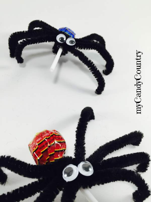 Halloween fai da te: come fare i lecca lecca ragno bambini creatività Halloween fai da te