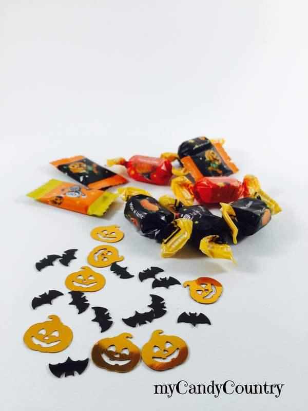Idee creative di Halloween - zucche palloncino con caramelle Halloween fai da te