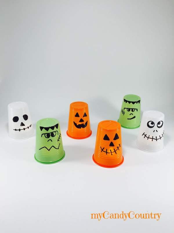 Lanterne di Halloween fai da te bambini Halloween fai da te plastica Riciclo Creativo