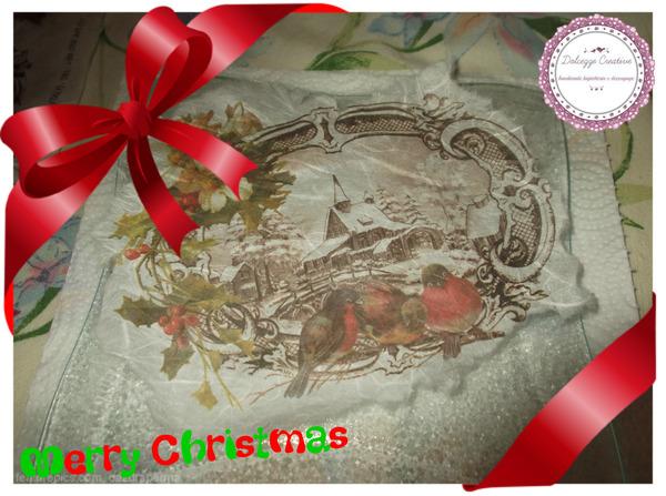Natale creativo con decoupage tutorial per decorazioni con carta natalizia mycandycountry - Decorazioni decoupage ...