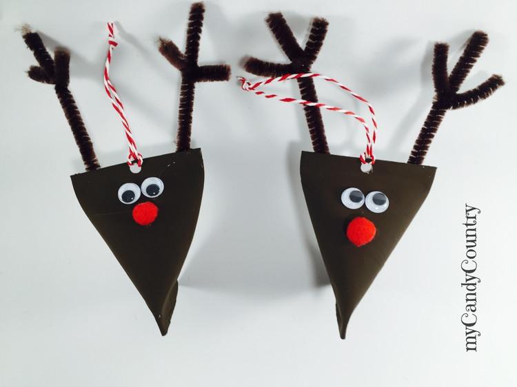 Renne di Natale fai da te bambini carta e cartone Natale fai da te