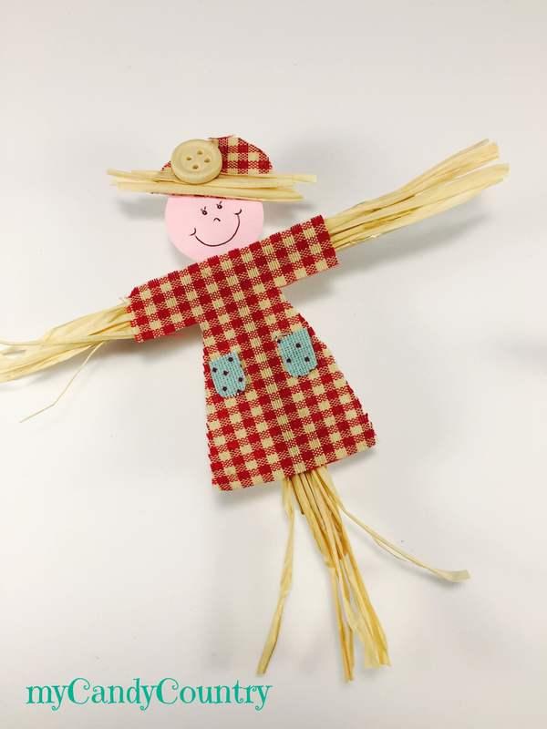 Spaventapasseri chiudipacco fai da te legno e natura regali fai da te Riciclo Creativo stoffa e lana