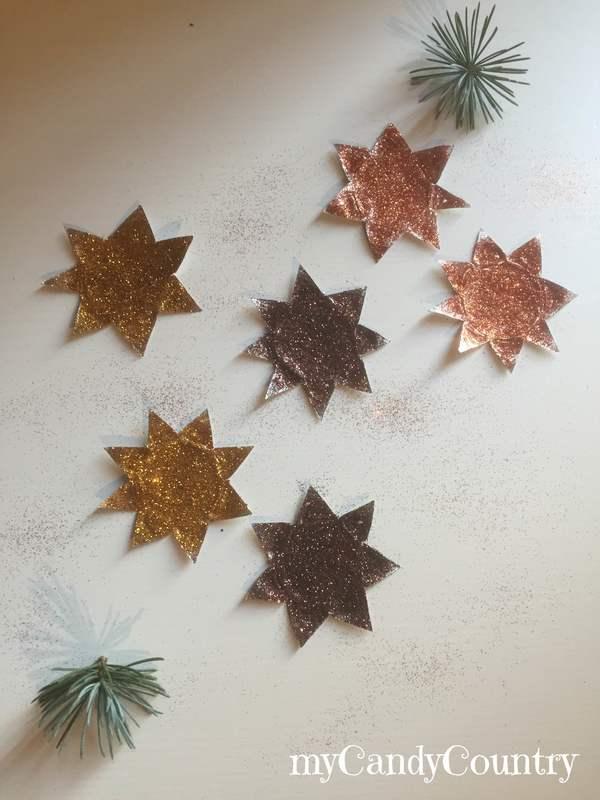 Stelle di Natale riciclando tealight home decor metallo Natale fai da te Riciclo Creativo