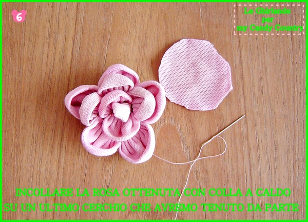 Tutorial delle Rose di Jersey creativapp home decor stoffa e lana