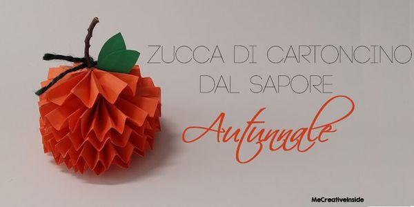 Zucca di cartoncino per halloween mycandycountry for Zucca di halloween fai da te