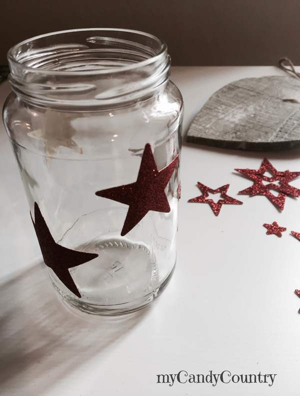 Riciclo Creativo: barattoli decorati per Natale candele home decor Natale fai da te Riciclo Creativo vetro