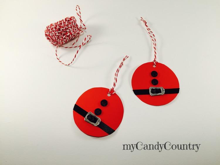 Biglietti chiudipacco natalizi fai da te carta e cartone Natale fai da te packaging