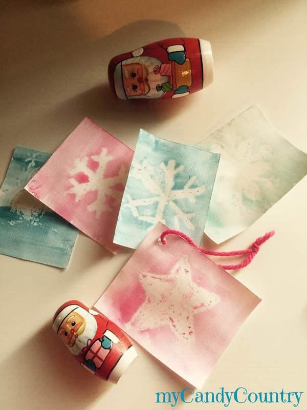 Biglietti natalizi magici bambini carta e cartone Natale fai da te