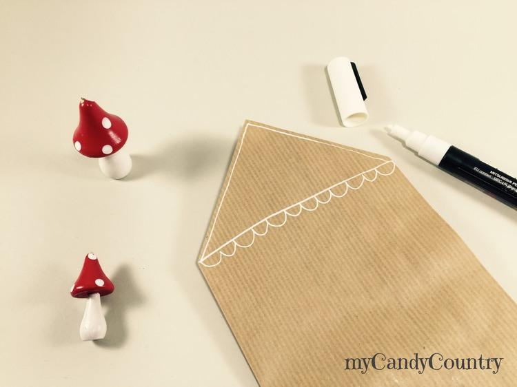 Buste regalo fai da te con i sacchetti del pane carta e cartone Natale fai da te packaging