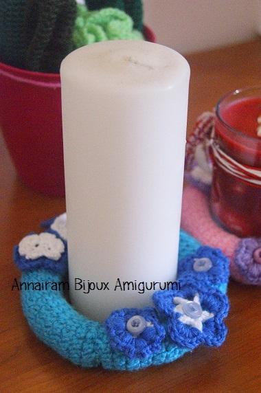 Creare un sotto candela centrotavola candele creativapp stoffa e lana
