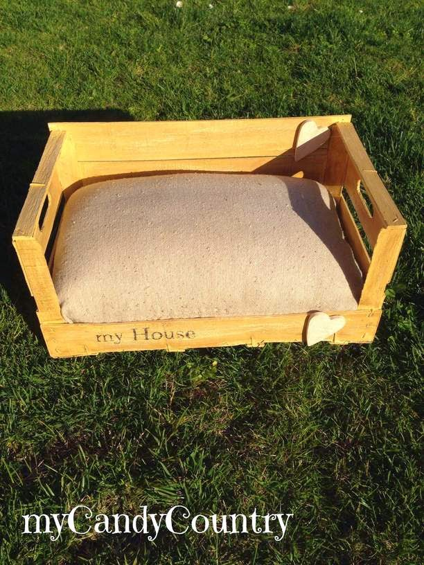 Super creare cuccia per cani o gatto, da una cassetta di legno  OI35