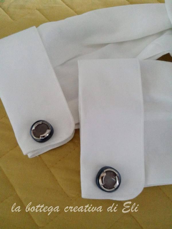Creare dei gemelli da polso fai da te Bijoux fai da te creativapp metallo