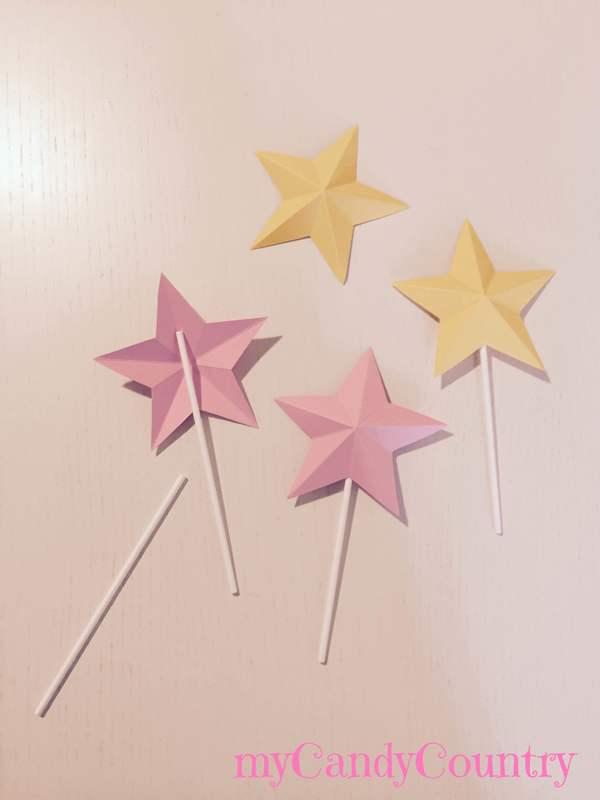 Come fare stelle di carta in 3D bambini carta e cartone Compleanni fai da te