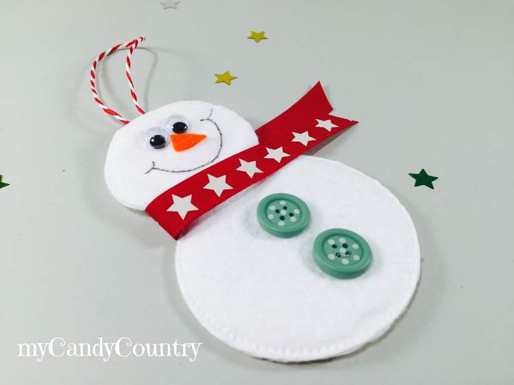 Decorazioni di natale fai da te pupazzi di neve con - Decorazioni per natale fai da te ...