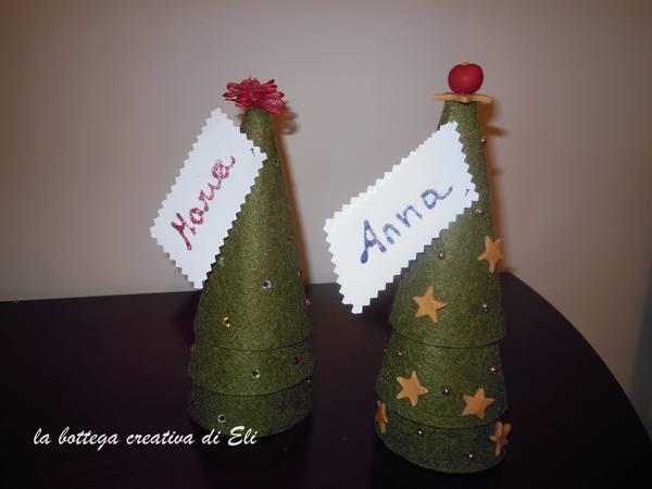 Albero di Natale segnaposto creativapp feltro home decor Natale fai da te