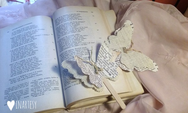 Farfalla segnalibro fai-da-te carta e cartone creativapp creatività Riciclo Creativo stoffa e lana