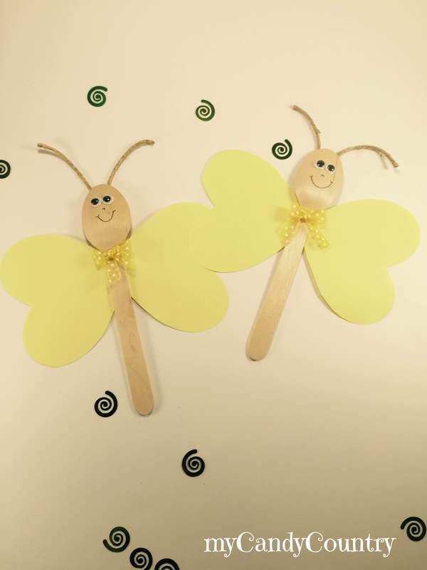Riciclo creativo farfalla fai da te con cucchiaio di for Uomo di legno fai da te