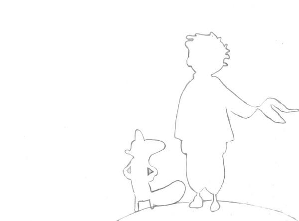 Sagoma Fai-da-te Del Piccolo Principe E La Sua Tenera
