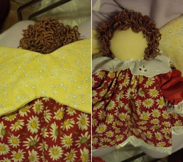 Angelo di Natale fai da te creativapp Natale fai da te stoffa e lana