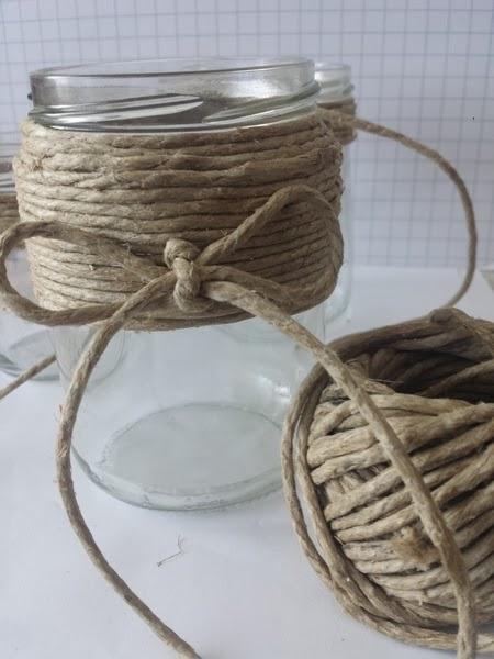 Come fare delle simpatiche lanterne decorate in fimo creativapp home decor Riciclo Creativo spago vetro