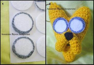 Come fare occhi agli Amigurumi amigurumi creativapp stoffa e lana