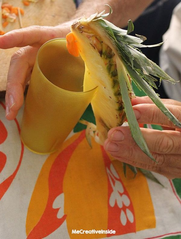 Creare pappagalli di ananas bambini creativapp creatività Estate fai da te legno e natura ricette