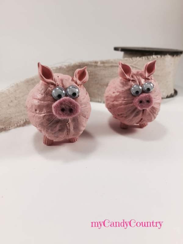 Connu Simpatici porcellini fai-da-te riciclando gusci di noce  SU28