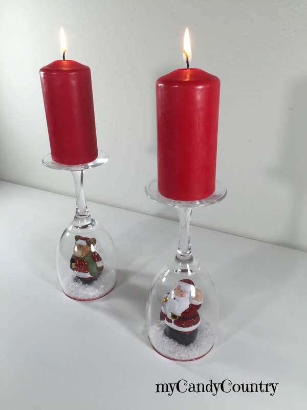 Preferenza Portacandele fai da te con calici di vetro decorano il Natale  DU84