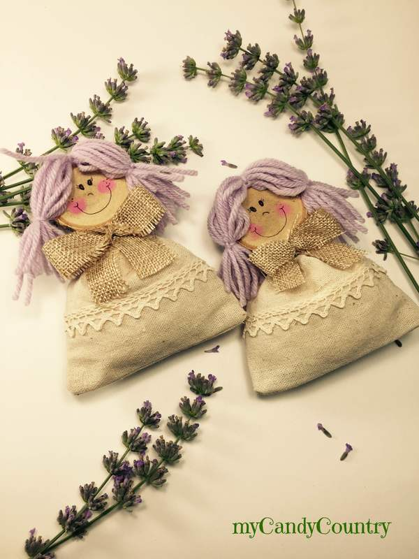 Bamboline profuma biancheria fai da te home decor regali fai da te Riciclo Creativo stoffa e lana