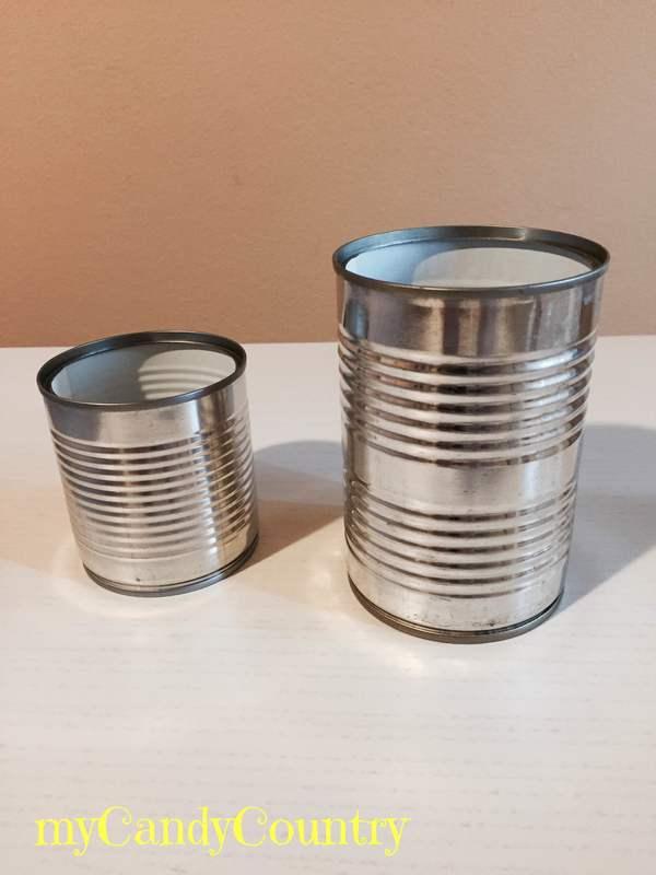 Creare tamburi con barattoli di latta metallo plastica Riciclo Creativo