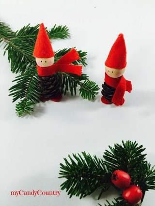 Decorazioni di natale elfi pigna fai da te 11 for Lavoretti di natale fai da te semplici e veloci