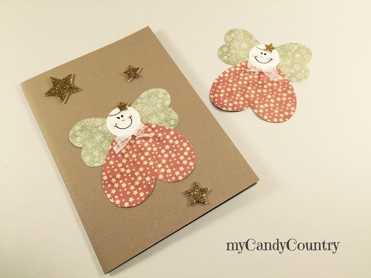 Super Biglietti di Natale fai da te con angeli di carta | Natale fai da  XU39