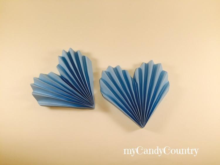 Cuore di carta fai da te carta e cartone home decor San Valentino fai da te