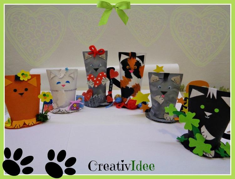 Rotoli Di Carta Igienica Riciclo : Riciclare rotoli di carta e creare simpatici gatti riciclo