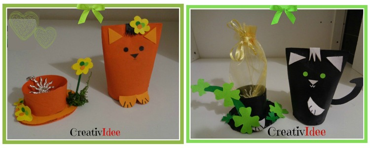 Riciclare rotoli di carta e creare simpatici gatti carta e cartone creativapp Riciclo Creativo