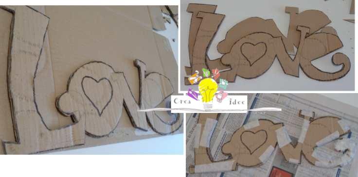 Scritta decorativa fai da te per decorare casa carta e cartone creativapp home decor