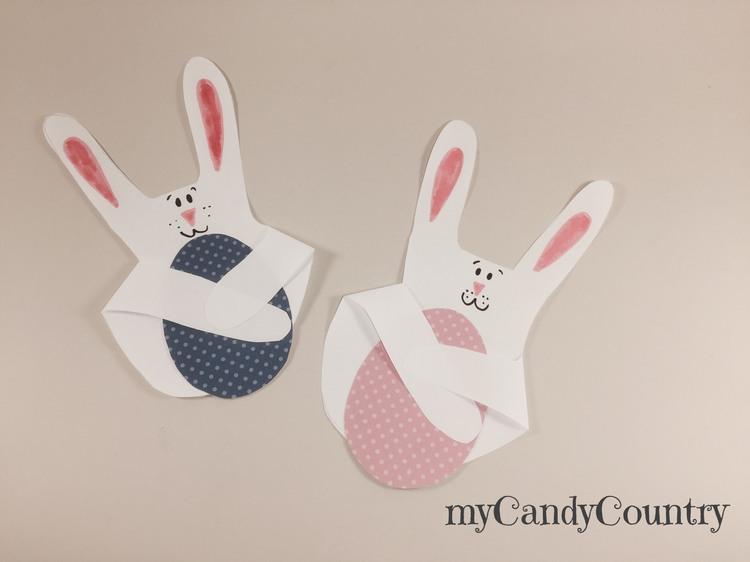 Coniglio di carta fai da te carta e cartone Pasqua fai da te