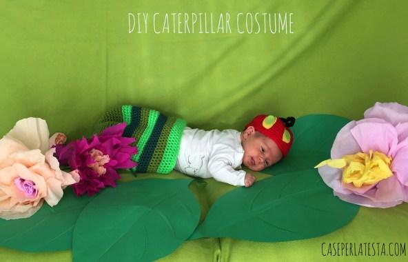 Carnevale fai da te - Costume da bruco per neonati bambini Carnevale fai da te creativapp