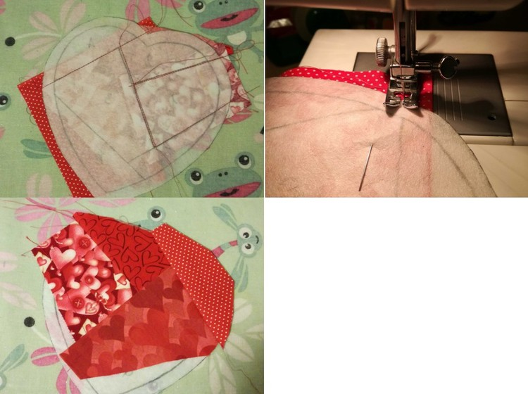 Presina fai da te con la tecnica del paper piecing creativapp stoffa e lana