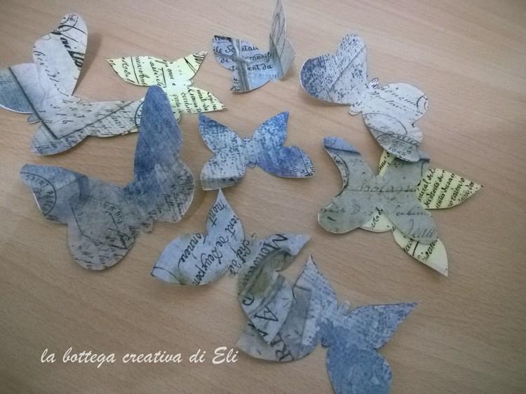 Farfalle fuoriporta fai da te carta e cartone creativapp Primavera fai da te